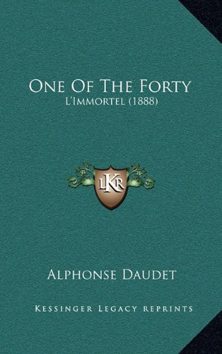 Download One Of The Forty: L'Immortel (1888) pdf