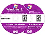 Windows 8.1 All-In-1 32 & 64 bit Reinstall Install DVD Disc Core Professional Enterprise - 2018 Universal Driver Install Disc - No Internet Needed - 2 Disc Installation Kit