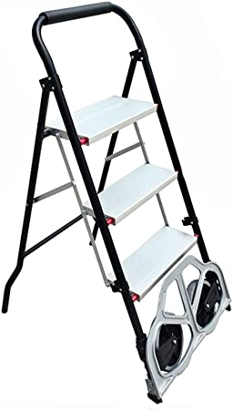 RenGuan Escalera Plegable Multifuncional del hogar de la Escalera pequeña de la pequeña raspa de Arenque de la Carretilla del hogar Mini (Color : La Plata, Tamaño : 3 Step Ladder): Amazon.es: Hogar
