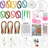 Complete Quilling Paper Kits with Tools, 45 Colors 1620 Strips Board Mould Crimper Coach Comb DIY Set for Art Craft by LAMPTOP