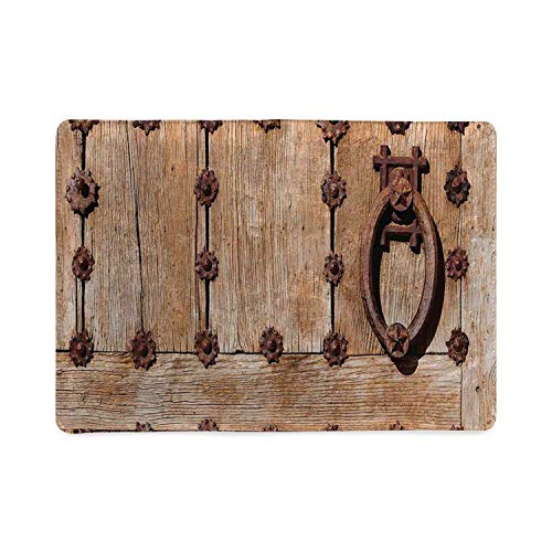 Rustic Utility Notebooks,Spanish Entrance of Rusty Medieval Style Handlers Archway Facade Historical Image Decorative for Work,5.82