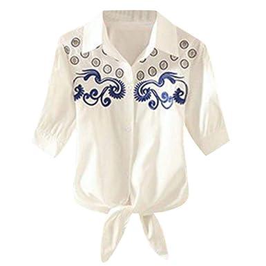 online retailer 89680 c2329 Vovotrade® Donne Camicetta Camicia a Maniche Corte Camicetta ...