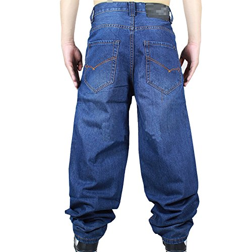 Generic Mens Casual Destroyed Denim Work Trousers Jeans Pants