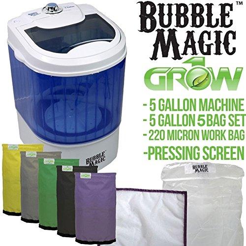 5 Gallon Bubble Magic Washing Machine + Ice Hash Extraction 5 Bags Kit GROW1 by Bubble Magic