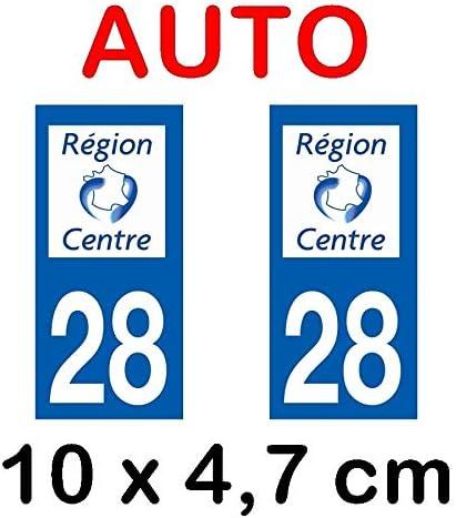Centre Val de Loire Autocollant Moto immatriculation 28 Eure et Loir