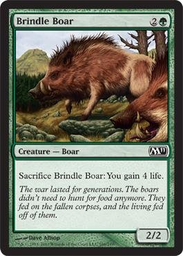 Magic: the Gathering - Brindle Boar - Magic 2011 - Foil ()