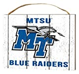 KH Sports Fan 4''X5.5'' Middle Tennessee State Blue Raiders Weathered Logo Small College Plaque