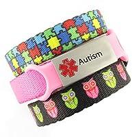 3 Bracelet Value Pack | Autism, Kid's Medical Alert Bracelets | Choice of Fun Designs | Children's Medical ID Bracelets | Adjustable