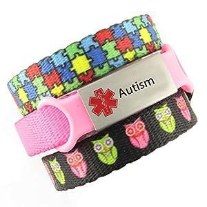 3 Bracelet Value Pack   Autism, Kid's Medical Alert Bracelets   Choice of Fun Designs   Children's Medical ID Bracelets   Adjustable