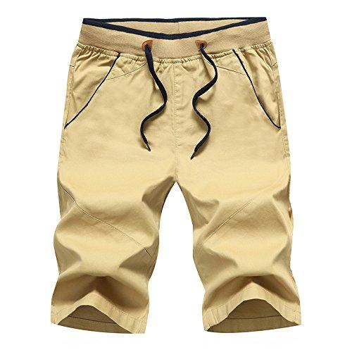 WDDGPZDK Strand Shorts/Baumwolle Shorts Men Sommer Lässige Shorts Fit Board Shorts Kühl Draußen Jogger Solide Jogger Plus Größe S-5Xl 578