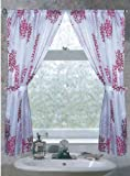 Carnation Home Fashions Emma Fabric Bathroom Window Curtain Set