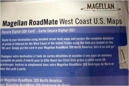 Magellan RM300 West Coast North America Street Map microSD Card