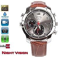 fannuoyi Wrist Smart Watch Camera Full HD 1920x1080P IR Night Vision Mini Camera 16GB Waterproof DVR
