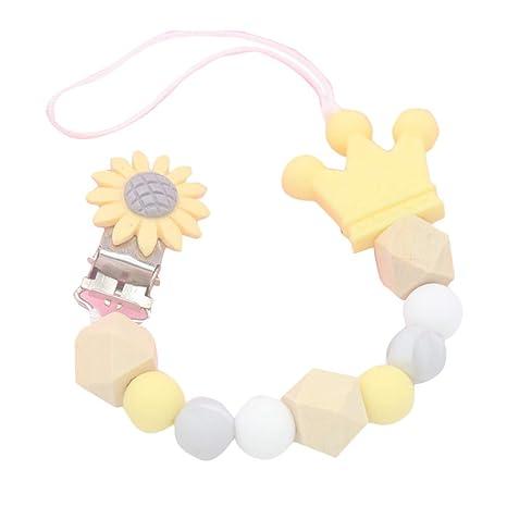 Egosy - Cadena de Silicona para Chupete de bebé, diseño de Flores