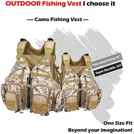 AnglerDream Fly Fishing Pack Outdoor Sports Mesh Vest Pack Chest Pack Sling Pack Back Pack Universal Adjustable Fishing Hunting Hiking Fishing Pack Storage Compartments