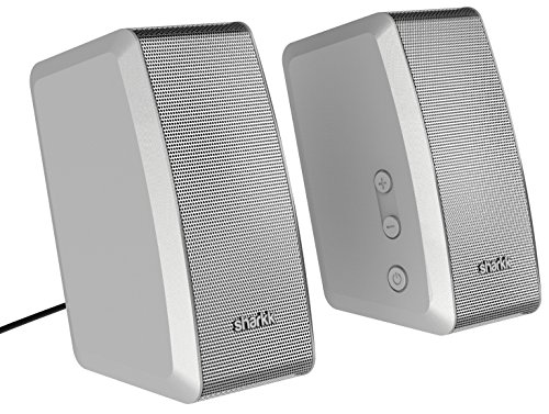 Sharkk Duo 20W Speaker Set Surround Sound Computer Speakers With Remote Control Dsp Ac Powered And Bluetooth Speakers For Home And Work Computers
