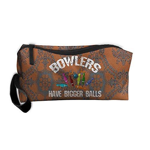 Handbag Bowler Small (Bowlers Have Bigger Balls Travel Waterproof Storage Zipper Handbag)