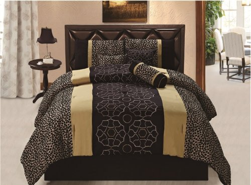 SUPER SPECIAL: Safari - Leopard Combo Comforter Set, King-size