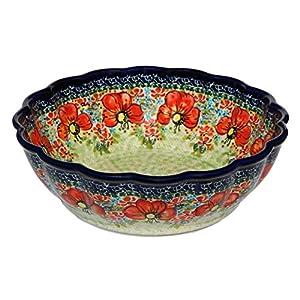 Polish Pottery Bowl 9″ from Zaklady Ceramiczne Boleslawiec, Diameter: 9″