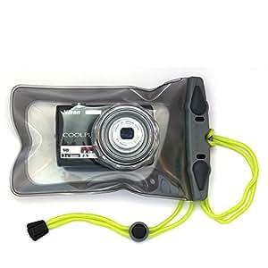 Aquapac Bolsa Estanca Funda Cámara Fotos con Zoom, 23 cm, Gris (Transparente/Gris)