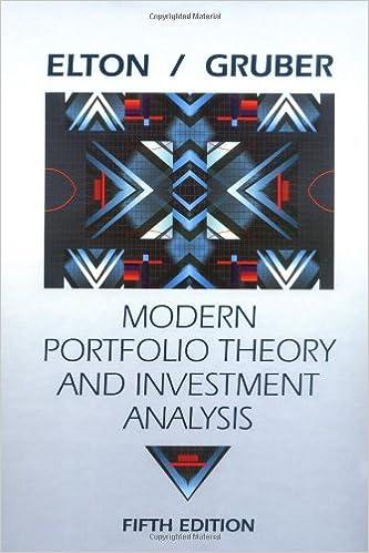 AmazonCom Modern Portfolio Theory And Investment Analysis