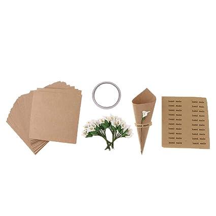 Amazon.com: 50 unidades de conos de confeti de boda conos de ...