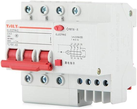 32A Commutateur /à air domestique petit disjoncteur triphas/é 3P