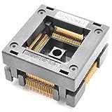 ALLSOCKET QFP100-0.5 Socket IC Burn-in Tesing Socket OTQ-100-0.5-09 0.5mm Pitch 14X14mm IC Dimension Open-top Socket Soldering Version(QFP100-0.5-STP)