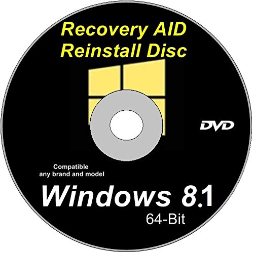NEW WINDOWS 8.1 64-Bit Compatible Disk Repair- Re install – Recovery- Restore Boot Disc~ Factory Fresh ~ Fix PC – Laptop - Desktop ~ DVD