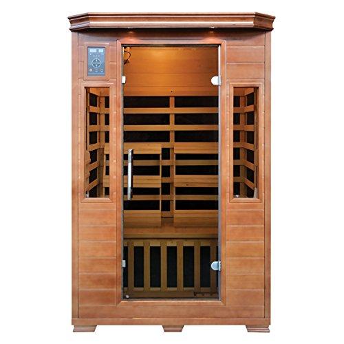 2-Person Hemlock Infrared Sauna with 6 Carbon Heaters | Steam Shower ...