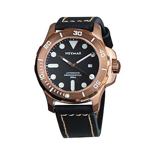 Bronze-Mens-Watch-CuSn8-German-Material-Case-50ATM-For-Diving