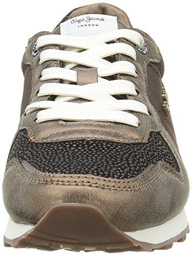 Pepe Jeans London Damen Verona W Volcan Sneakers Braun (COOPER 195)