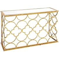 Deco 79 67050 Metal Mirror Console Table, 49 x 31