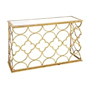 "Deco 79 67050 Metal Mirror Console Table, 49"" x 31"""
