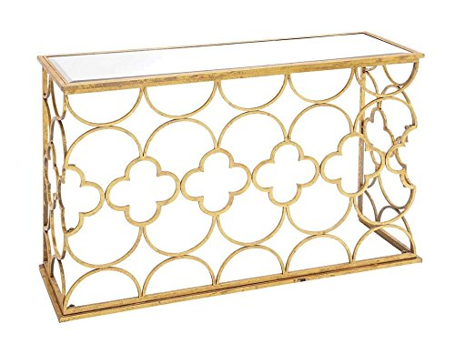 Deco 79 67050 Metal Mirror Console Table, 49'' x 31'' by Deco 79
