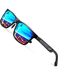 Men's Hot Retro Driving Polarized Sunglasses Al-Mg Metal...