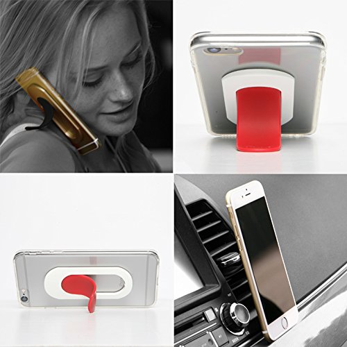 Car Mount Holder, Smart Phone Stand for Any Phone. I-Series Red Tougue-White Sleeve. Ultimate Smart Phone Accessory