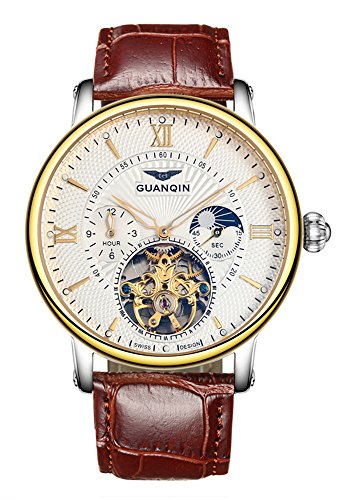 Fanmis Leather Tourbillon Automatic Wristwatch product image