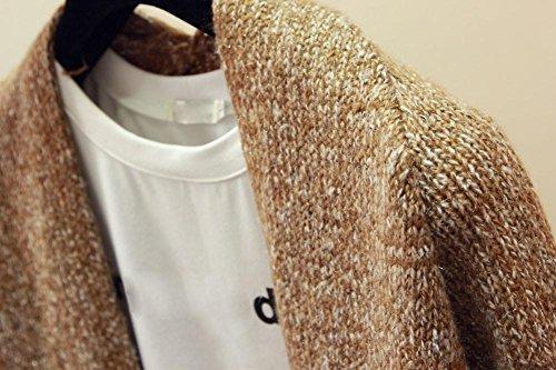 a donna Amlaiworld lavorato Giacca da a lunghe donna maniche Giacca manica Cardigan cachi da maglia maglione lunga Hw8xUnxTq