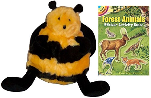 Giraffe King Lion Costume (Unipak Plumpee Bee Plush Animal with Forest Animals Sticker Book,)
