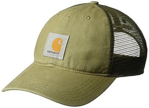 Carhartt Men's Buffalo Sandstone Meshback Cap, Burnt Olive, OFA (Vintage Cap Ball)