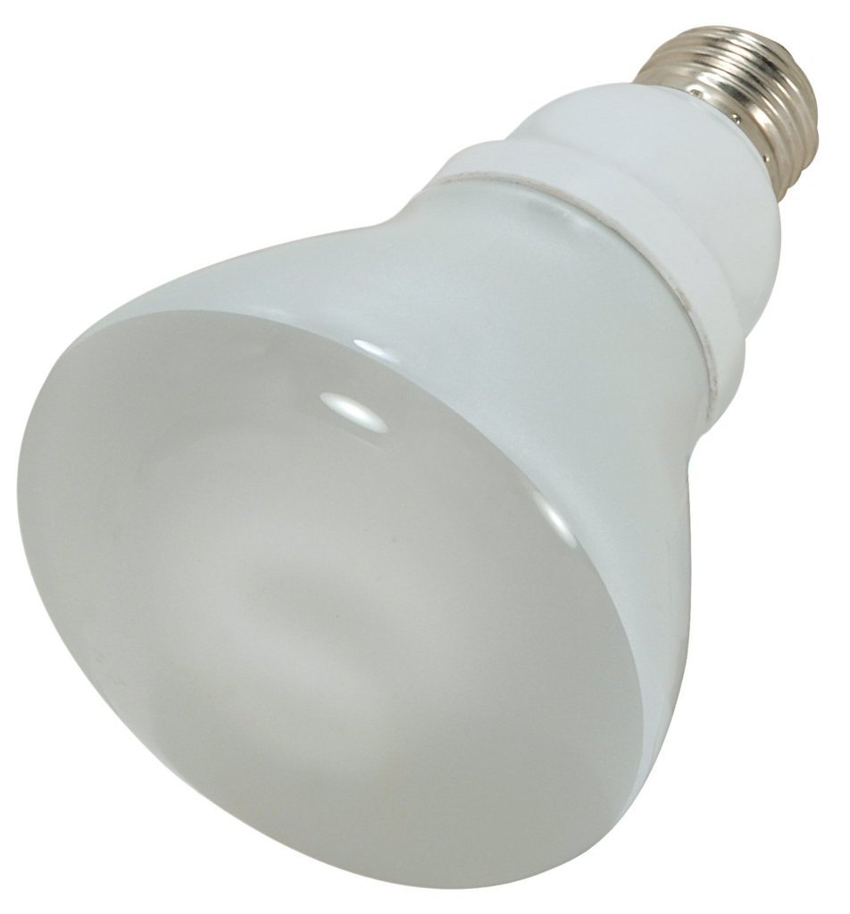 Soft White 120V Bulb Equivalent to 65-Watt Incandescent Lamp with Energy Star Rated 12 Pack 2700K Satco 15Wt=65Wt S7247 15 Medium Base R30 Reflector