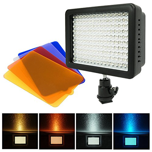 Julius Studio Video Light LED 160 Dimmable Ultra High Power Panel Digital Camera,LED Light for Canon, Nikon, Pentax, Panasonic, SONY, Samsung and Olympus Digital SLR, JGG2161
