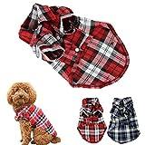 CXB1983(TM)Cute Pet Dog Puppy Clothes Shirt Size XS/S/M/L Blue Red Color (M, Red)