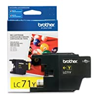 Brother LC71Y Yellow Ink Cartridge from Brother Printer