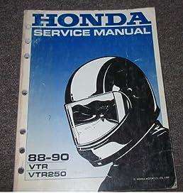 1988 1989 1990 honda vtr vtr250 service shop manual honda amazon rh amazon com honda vtr 250 service manual 2006 honda vtr 250 service manual
