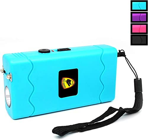 Guard Dog Disabler, Child Safety Stun Gun with Disable Pin, Rechargeable with LED Flashlight, Disable Pin and Holster Included Teal
