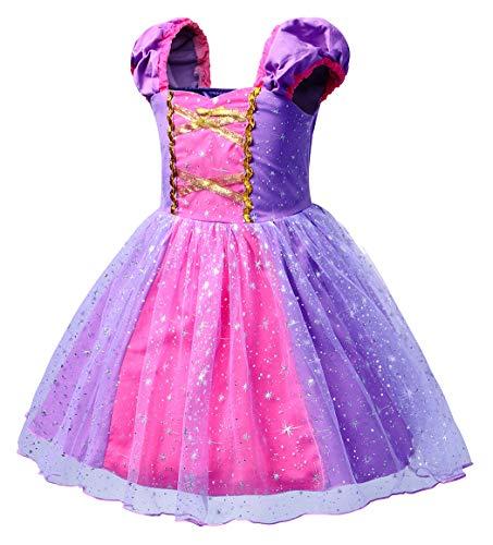 HenzWorld Rapunzel Dress Costume Girls Princess Cosplay Birthday Party Pajamas Playwear