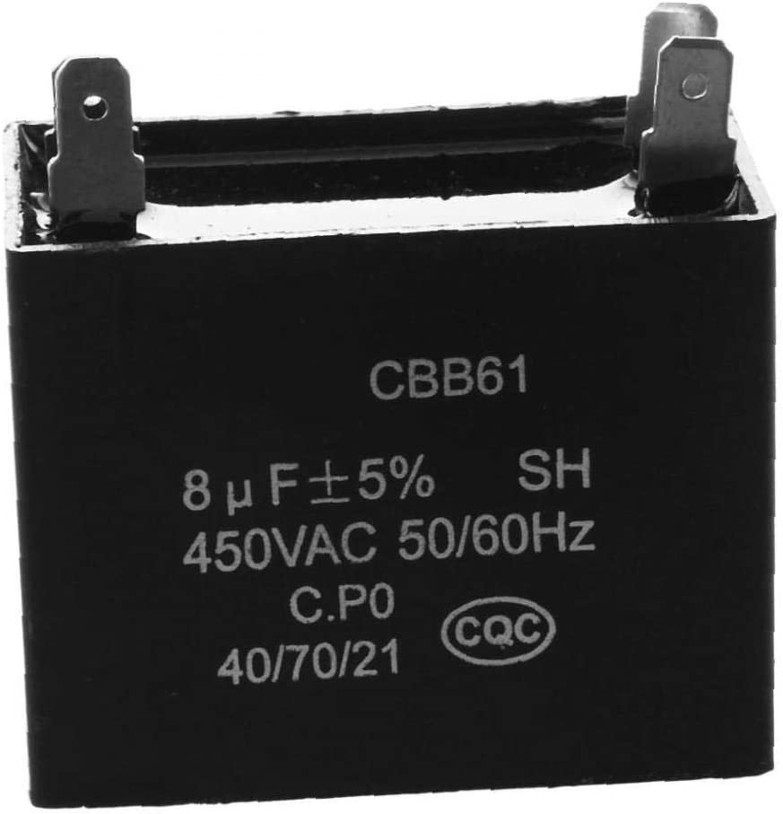 Noir Mini Cbb61 Ventilateur Au Plafond Condensateur Professionnel Moteur Du Ventilateur Condensateur De 450vac 8uf 4 Bornes