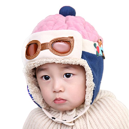 Baby Hat For 6M-4Y, WITERY Unisex Cute Baby Kids Toddler Hats Winter Warm Cap Hat Beanie Flight Pilot Aviator Boys Girls Caps Hats
